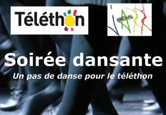 Soirée de danse Téléthon 2015 avec Bréhal Jazz