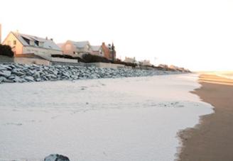 De la neige sur la plage (27/12/09)