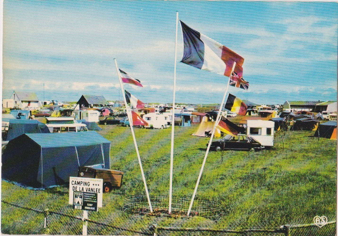 1970 St Martin Sites Camping Vanlée © collection Jean Claude Ferret